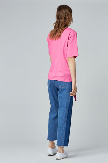 Warehouse, RUCHE SIDE T-SHIRT Bright Pink 0