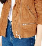 Warehouse, Suede Biker Jacket Tan 4