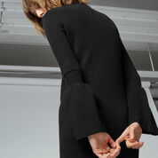 Warehouse, FLARE CUFF DRESS Black 4