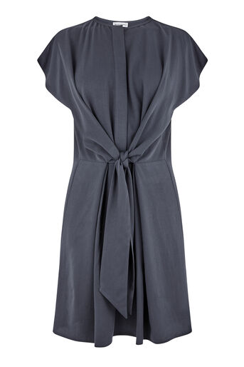 Warehouse, TIE FRONT CASUAL SHIRT DRESS Navy 0