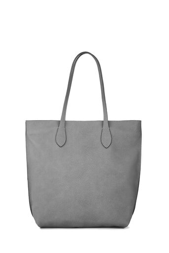 Warehouse, Grainy Shopper Bag Dark Grey 0