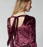 Warehouse, VELVET BODYCON DRESS Berry 4