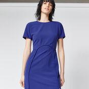 Warehouse, SHORT SLEEVE SEAM DRESS Bright Purple 4