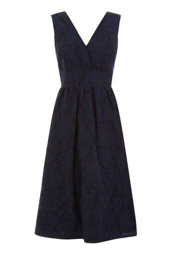 Warehouse, BURN OUT PROM DRESS Navy 0