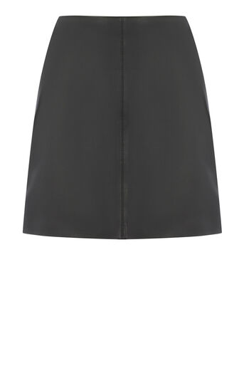 Warehouse, LEATHER SKIRT Black 0