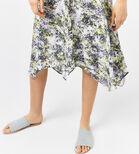 Warehouse, CLOUD BURST HANKY HEM DRESS Purple Pattern 4