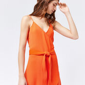 Warehouse, WRAP CAMI DRESS Orange 4