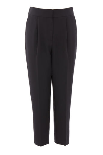 Warehouse, CREPE PEG TROUSER Black 0