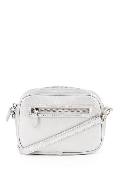 Warehouse, DISCO CROSS BODY BAG Silver Colour 0
