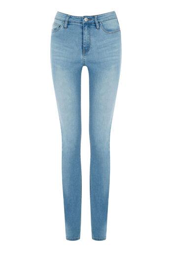 Warehouse, Powerhold Skinny Cut Jeans Light Wash Denim 0