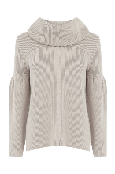 Warehouse, SNOOD JUMPER Stone 0
