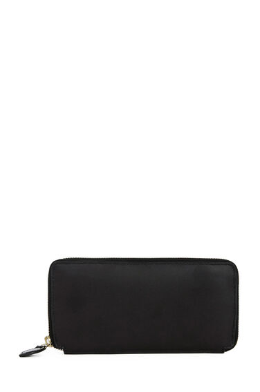 Warehouse, Zip Around Wallet Black 0