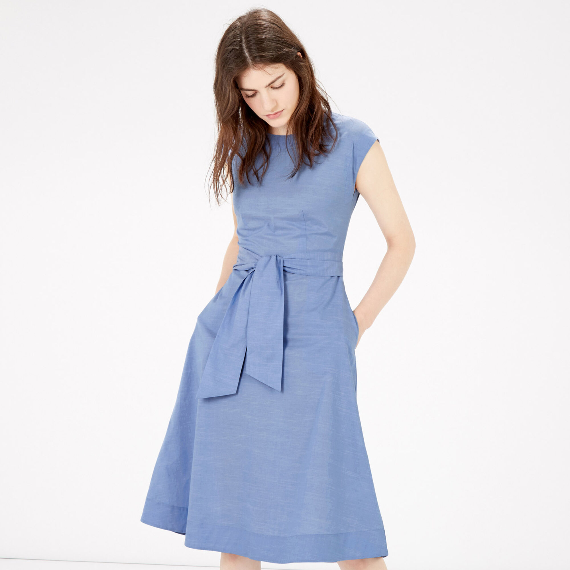 FULL COTTON MIDI DRESS
