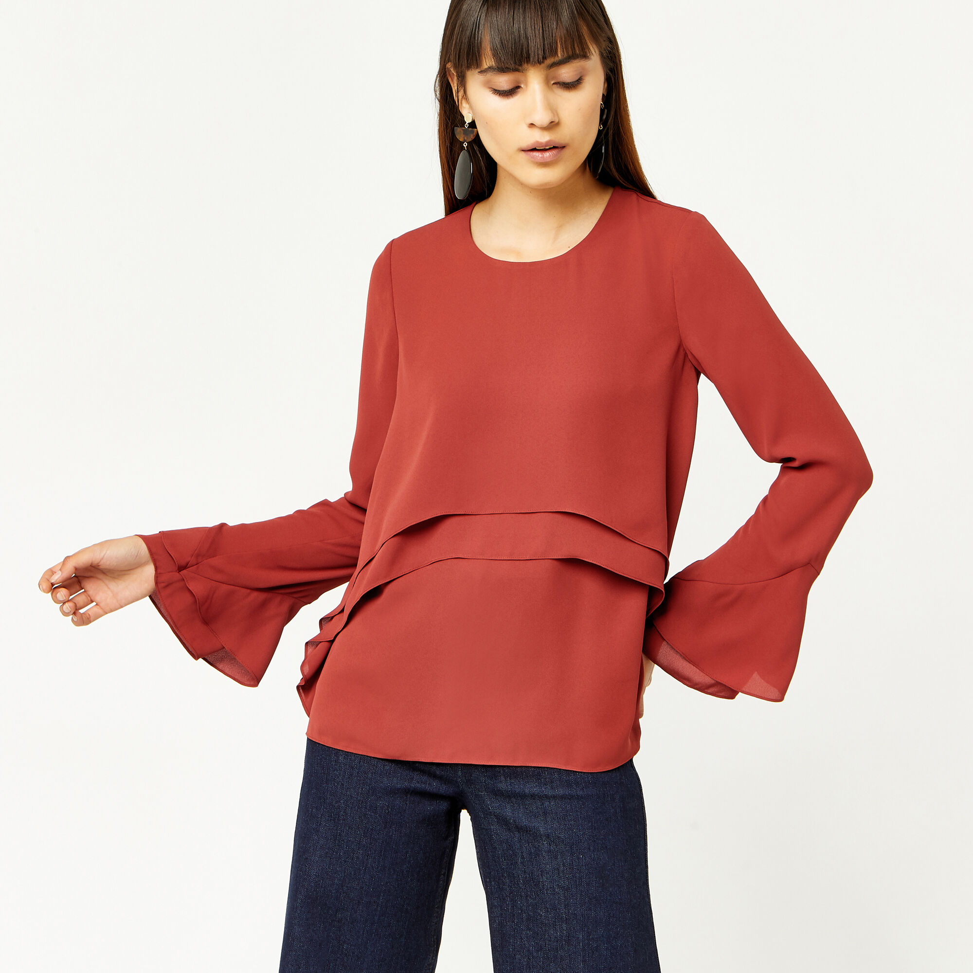 Warehouse, DOUBLE LAYER TOP Orange 1