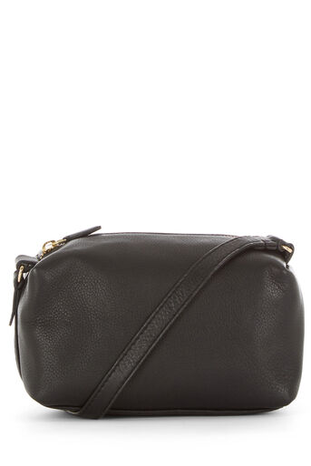 Warehouse, LEATHER BOXY CROSS BODY BAG Black 0