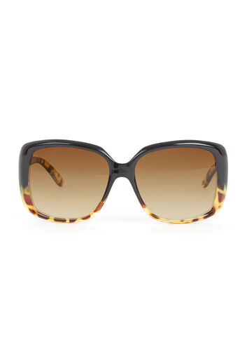 Warehouse, Square Glam Tort Sunglasses Brown 0