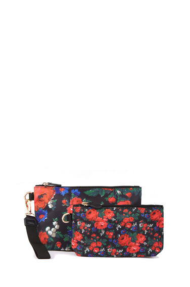 Warehouse, Lupita Rose Wash Bag Set Red Pattern 0