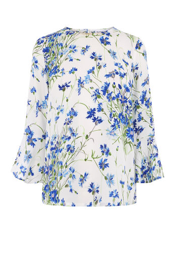 Warehouse, FULL BLOOM TOP Blue Pattern 0