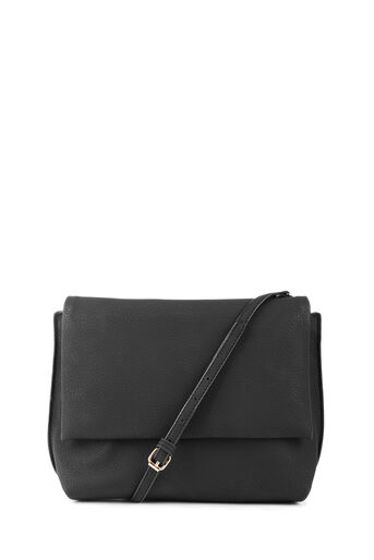 Warehouse, Grainy Mini Crossbody Bag Black 0