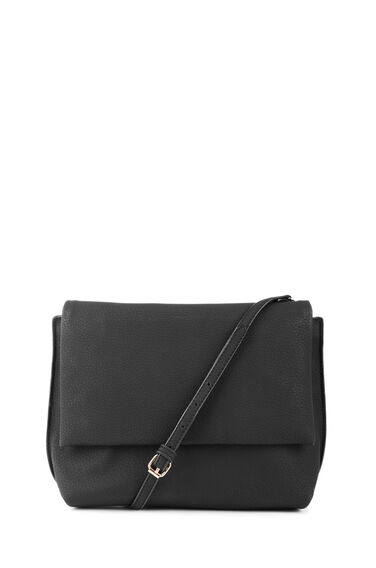 Warehouse, Grainy Crossbody Bag Black 0