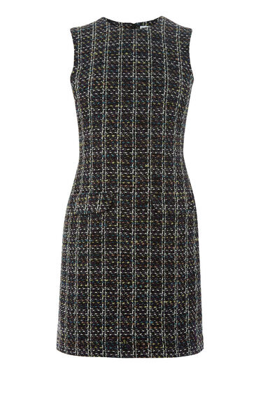 Warehouse, POCKET FRONT TWEED DRESS Multi 0