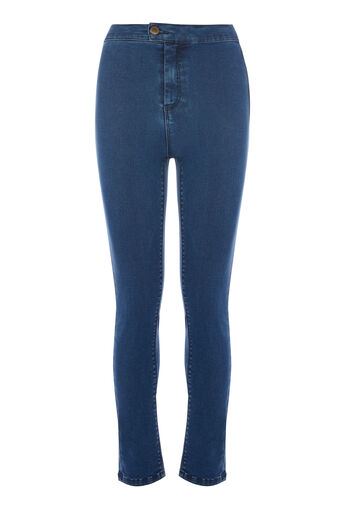 Warehouse, CLEAN HIGH RISE SKINNY Indigo 0