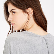 Warehouse, PLEAT BACK DETAIL TOP Light Grey 4
