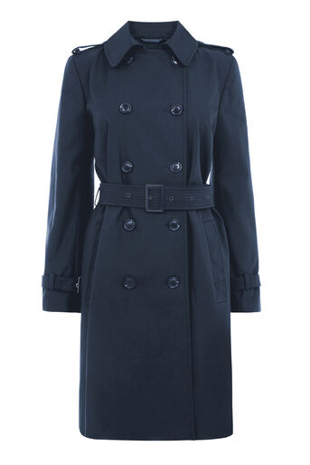 Warehouse, Trench Coat Navy 0