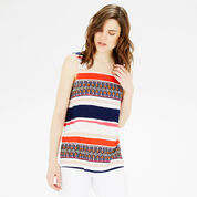 Warehouse, AZTEC STRIPE PRINTED VEST Multi 1