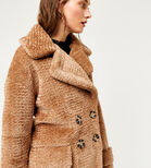 Warehouse, OVERSIZED TEDDY COAT Brown 4