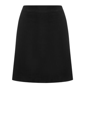 Warehouse, VELVET SKIRT Black 0