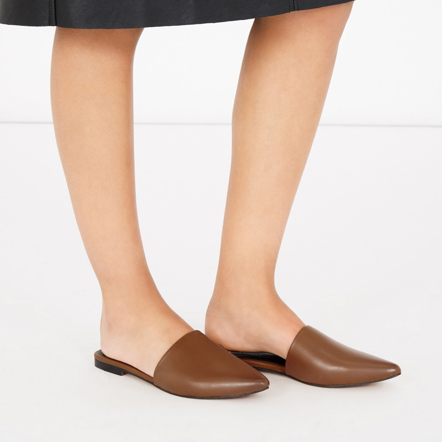 Warehouse, Backless Slip On Shoe Tan 1