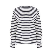 Warehouse, WRAP SLEEVE TOP Black Stripe 0