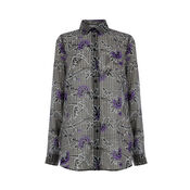 Warehouse, FLORAL ROSE BLOUSE Grey Pattern 0
