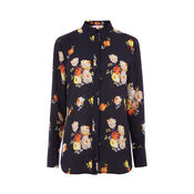 Warehouse, VICTORIA FLORAL SHIRT Navy 0