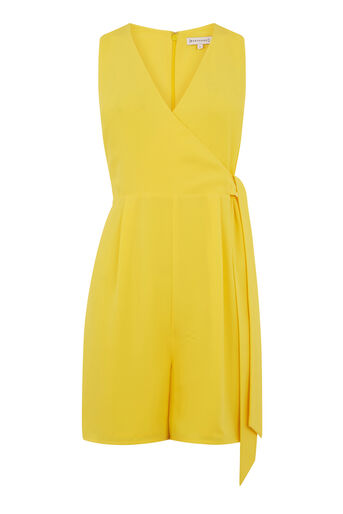 Warehouse, CROSS FRONT PLAYSUIT Yellow 0