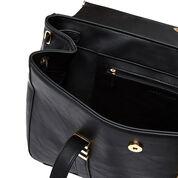 Warehouse, Scroll Detail Tote Bag Black 4