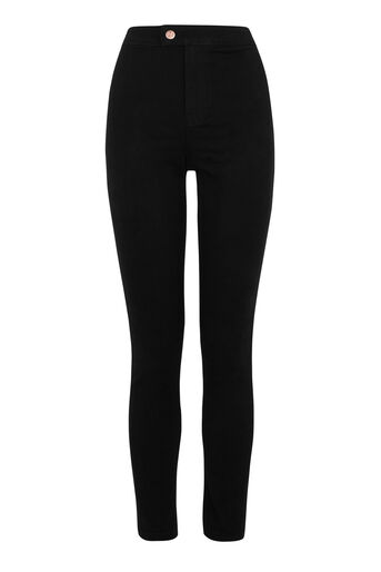 Warehouse, CLEAN HIGH RISE SKINNY CUT Black 0