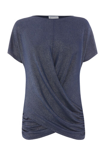 Warehouse, METALLIC KNOT FRONT TOP Midnight 0