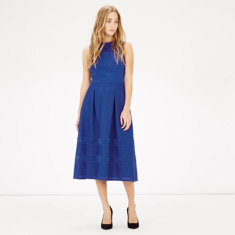 Warehouse, LINEAR PROM DRESS Bright Blue 1