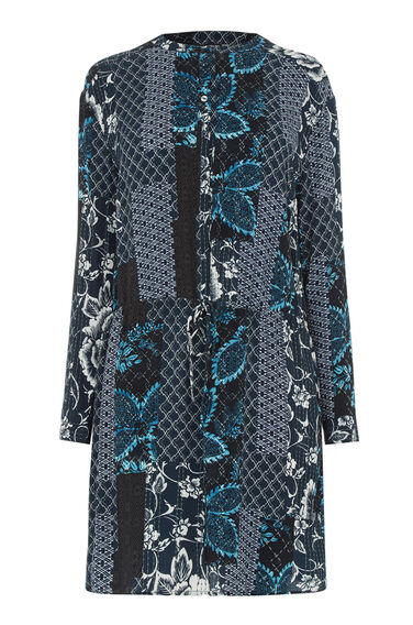 Warehouse, PRAIRIE PRINT TIE WAIST DRESS Multi 0
