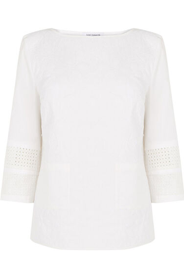 Warehouse, QUILTED COTTON TOP White 0