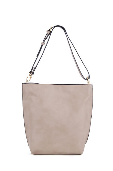Warehouse, Bonded Hobo Shopper Bag Mink 0