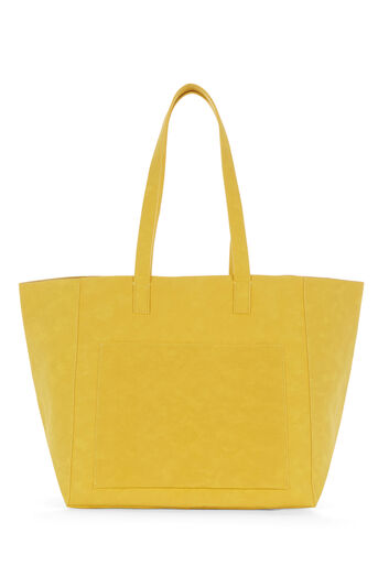 Warehouse, EMBOSSED SOFT POCKET TOTE Mustard 0