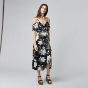 Warehouse, MAGNOLIA WRAP DRESS Multi 2