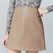 Warehouse, Leather Pelmet Skirt Light Pink 4