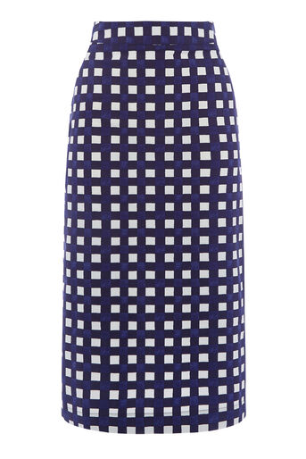 Warehouse, GINGHAM SKIRT Multi 0