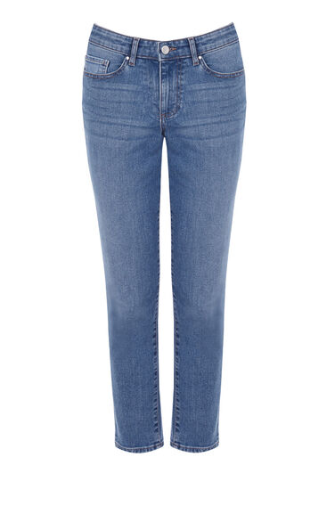 Warehouse, Relaxed Jean Light Wash Denim 0