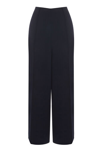 Warehouse, PINTUCK CULOTTES Navy 0