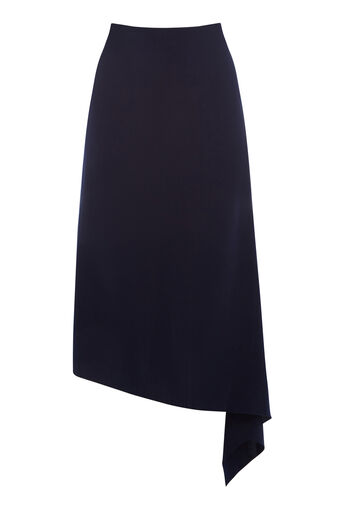 Warehouse, ASYMMETRIC SKIRT Navy 0